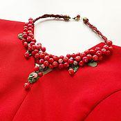 Украшения handmade. Livemaster - original item Necklace: Autumn cranberries. Handmade.
