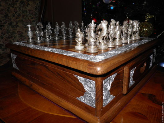Подарочные наборы ручной работы. Ярмарка Мастеров - ручная работа. Купить Шахматы в подарочной упаковке. Handmade. Шахматы