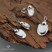 Украшения handmade. Livemaster - original item Silver may beetle set (ring, earrings, pendant). Handmade.
