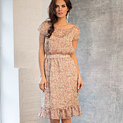 Одежда handmade. Livemaster - original item Dress of silk chiffon ruffles c. Handmade.