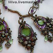 Украшения handmade. Livemaster - original item Stained glass pendant in vintage style