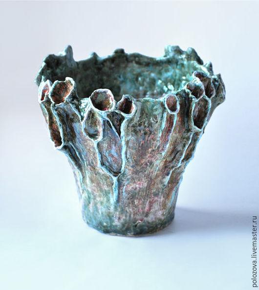 """Вазы ручной работы. Ярмарка Мастеров - ручная работа. Купить Интерьерная ваза-скульптура  """"Болотный цветок"""". Handmade. Керамика"""