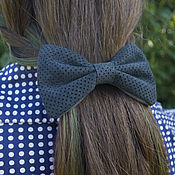 "Украшения handmade. Livemaster - original item Leather hair clip ""Blueberry"". Handmade."