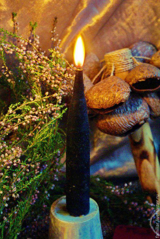 Эзотерические аксессуары ручной работы. Ярмарка Мастеров - ручная работа. Купить Свечи восковые алтарные малые черные. Handmade. Черный