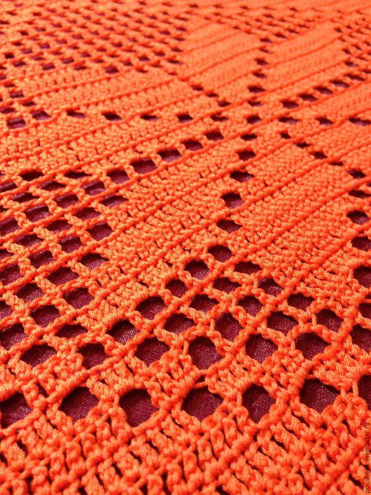 Кухня ручной работы. Ярмарка Мастеров - ручная работа. Купить Дорожка оранжевая 114х58 см, хлопок. Handmade. Филейное кружево