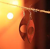 """Украшения ручной работы. Ярмарка Мастеров - ручная работа Серьги из дерева """"Рыбки"""". Handmade."""
