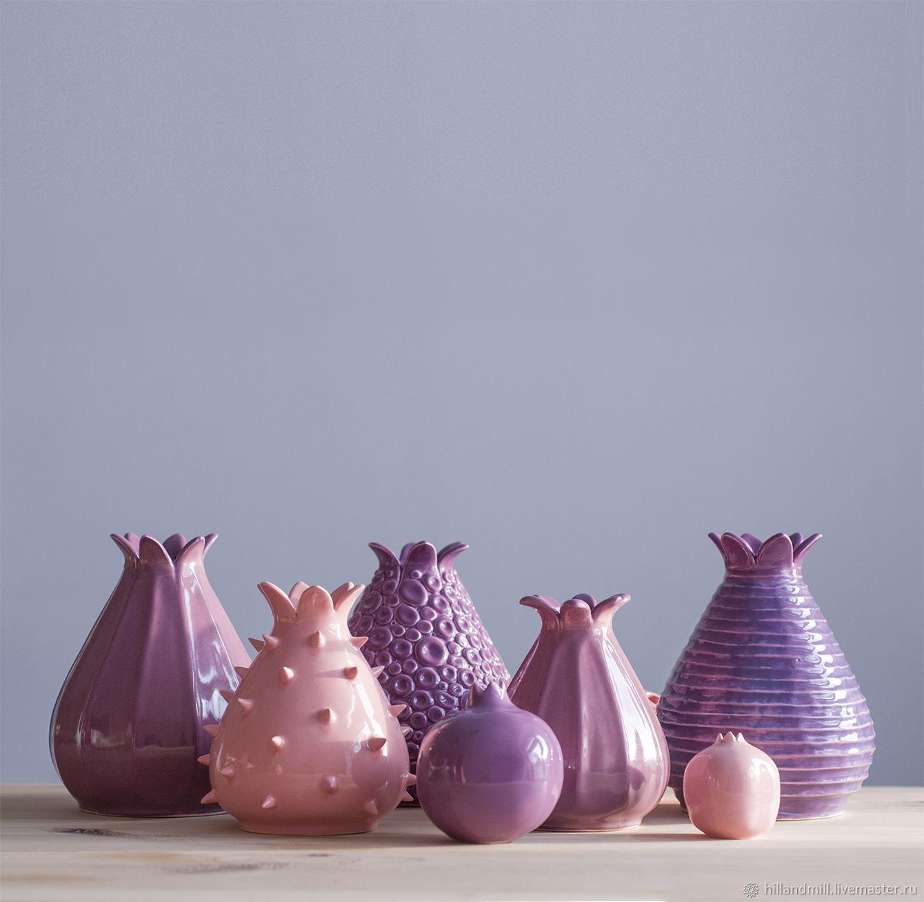 """Вазы ручной работы. Ярмарка Мастеров - ручная работа. Купить Коллекция """"Фиолетовая глазурь"""". Handmade. Интерьер, ультрафиолет, глазурь"""