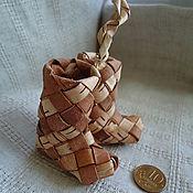 Русский стиль ручной работы. Ярмарка Мастеров - ручная работа сапожки из бересты. Handmade.
