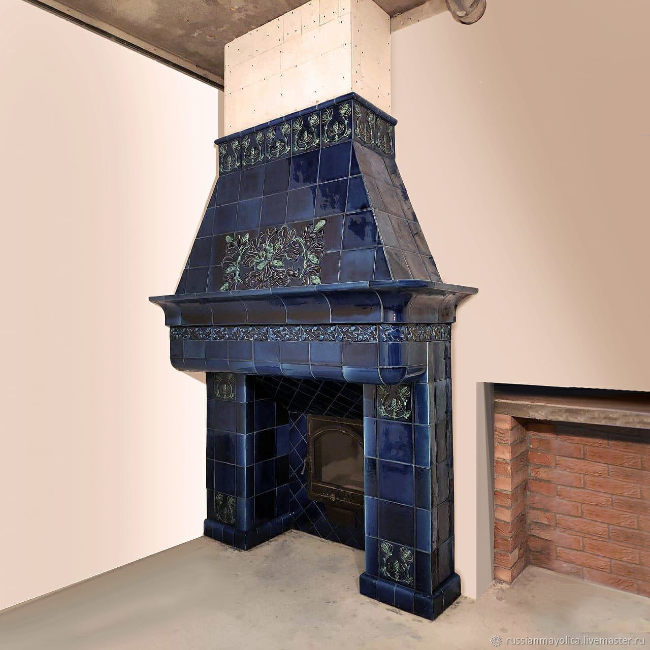 Tile portal in the style of ' Northern art Nouveau», Fireplaces, Moscow,  Фото №1