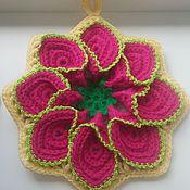 Для дома и интерьера ручной работы. Ярмарка Мастеров - ручная работа Прихватка цветок. Handmade.