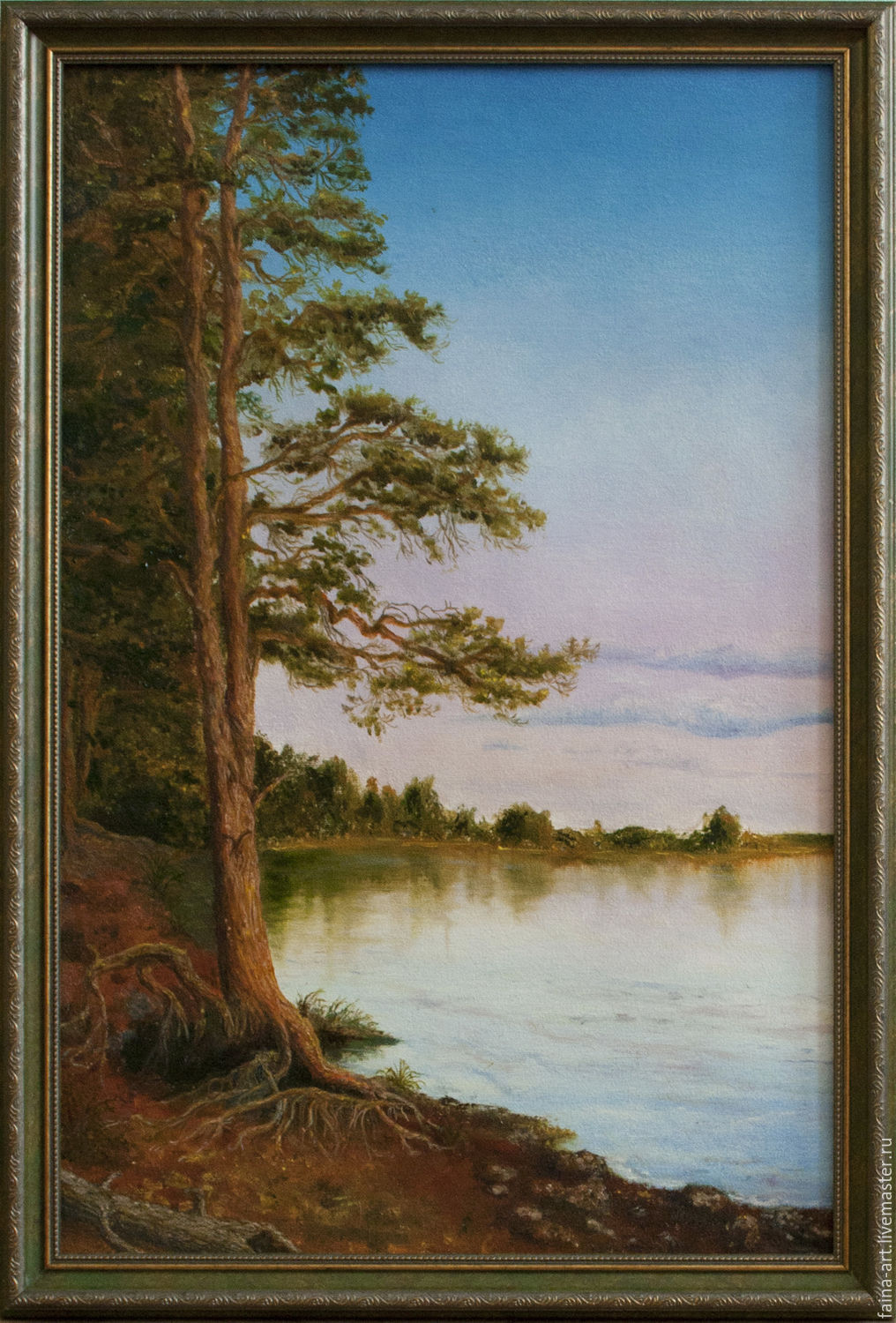 Landscape 'Pine', oil painting, brown, Pictures, Novosibirsk,  Фото №1