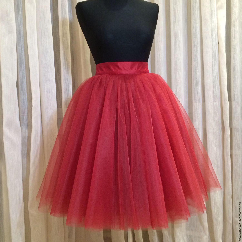 156Пышная юбка из фатина для девочки со шлейфом