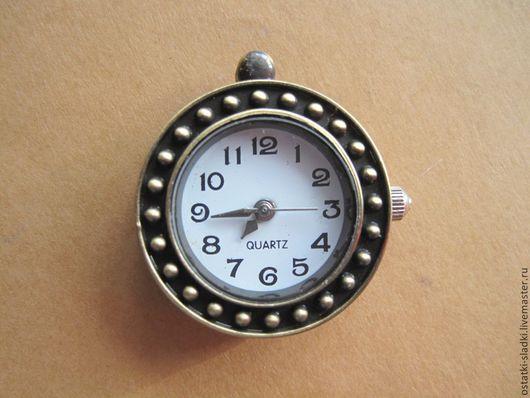 Для украшений ручной работы. Ярмарка Мастеров - ручная работа. Купить Часы-кулон бронза круглые. Handmade. Золотой