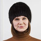 Аксессуары ручной работы. Ярмарка Мастеров - ручная работа Женская шапка сноп из норки. Handmade.
