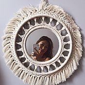 Аксессуары ручной работы. Ярмарка Мастеров - ручная работа Зеркало в макраме раме. Handmade.