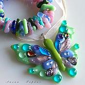 Украшения handmade. Livemaster - original item set of glass fusing Fluttering. Handmade.