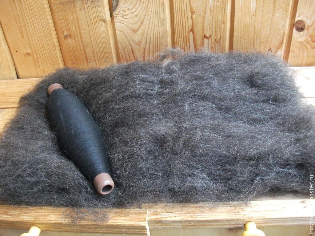 Шерсть собачья чесанная для прядения, Волокна, Тверь,  Фото №1