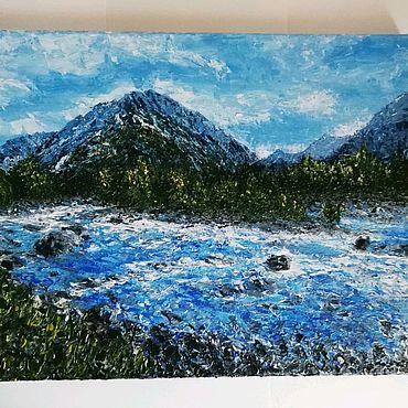 Картины и панно ручной работы. Ярмарка Мастеров - ручная работа Пейзаж горы. Handmade.
