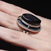 Украшения handmade. Livemaster - original item Ivisa ring with smoky quartz in 925 silver AN0018. Handmade.