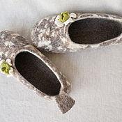 Обувь ручной работы. Ярмарка Мастеров - ручная работа валяные тапочки Пеструшки. Handmade.