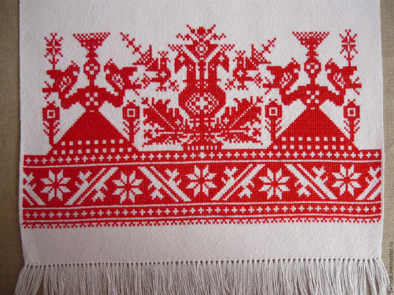 Вышивка русского полотенца 75