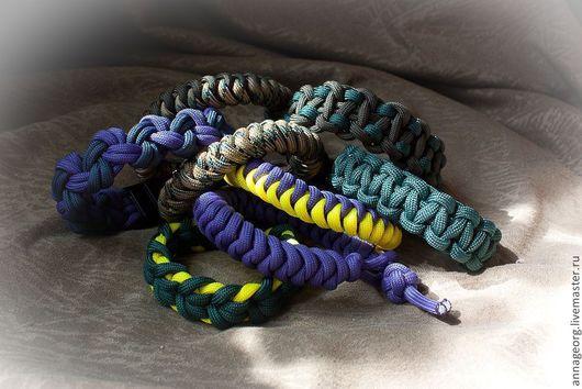 Браслеты ручной работы. Ярмарка Мастеров - ручная работа. Купить Плетеные браслеты из паракорда. Handmade. Браслет, Авторский дизайн, паракорд
