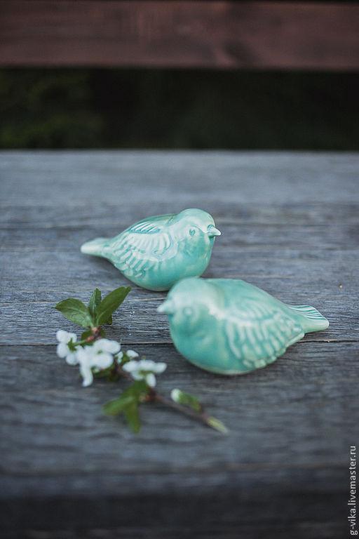 Подарки на свадьбу ручной работы. Ярмарка Мастеров - ручная работа. Купить мятные фарфоровые птички(2шт). Handmade. Мятный, птички, свадьба