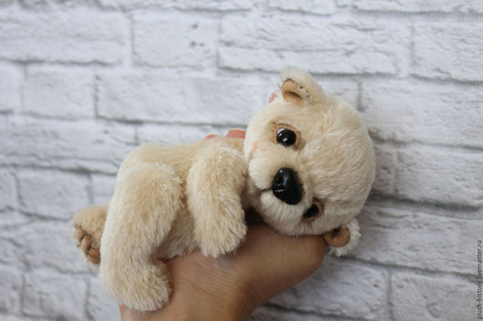 Мишки Тедди ручной работы. Ярмарка Мастеров - ручная работа. Купить Медвежонок тедди бежевый. Handmade. Бежевый, медведь тедди