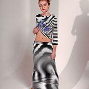 Одежда ручной работы. Ярмарка Мастеров - ручная работа Полосатая трикотажная юбка. Handmade.