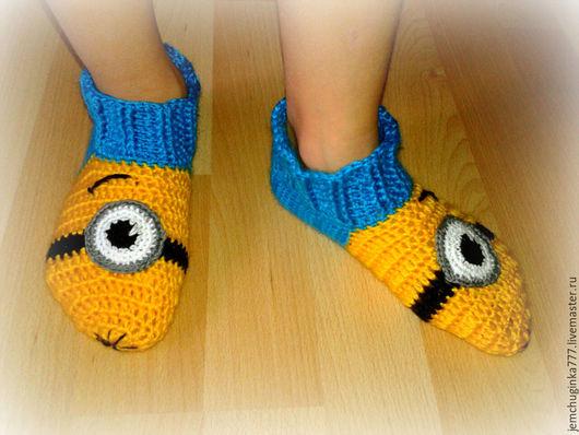 Детская обувь ручной работы. Ярмарка Мастеров - ручная работа. Купить Носки-миньоны. Handmade. Носки, желтый