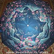 """Аксессуары ручной работы. Ярмарка Мастеров - ручная работа зонт """"Сакура в цвету"""". Handmade."""