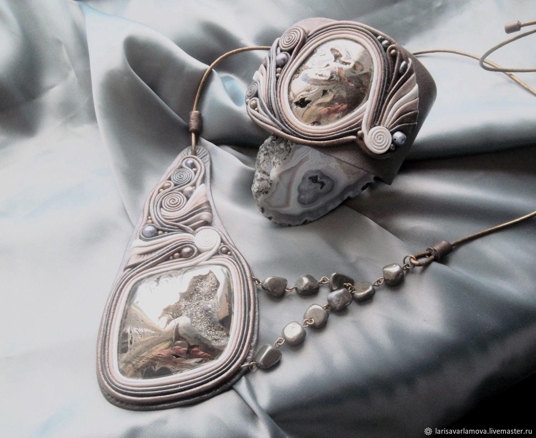 Set 'Bronze age'. Stone and leather decoration, Jewelry Sets, Velikiy Novgorod,  Фото №1