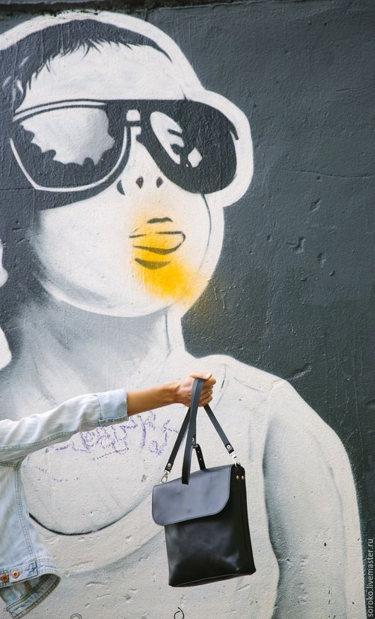 Женские сумки ручной работы. Ярмарка Мастеров - ручная работа. Купить Кожаная сумочка LETO черная. Handmade. Черный