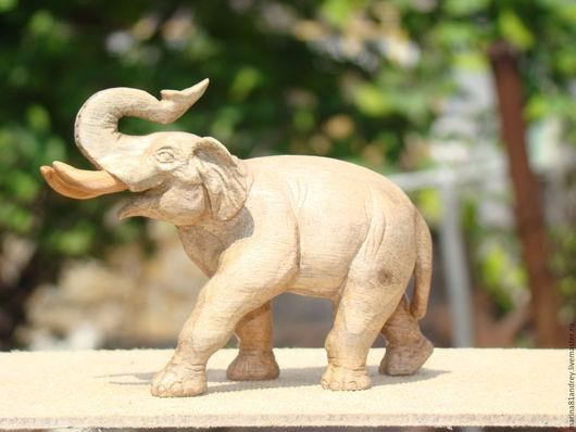 Игрушки животные, ручной работы. Ярмарка Мастеров - ручная работа. Купить слон. Handmade. Коричневый, фигурка, грецкий орех