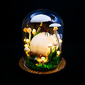 Для дома и интерьера handmade. Livemaster - original item Night light with mushrooms, skull and spider. Handmade.