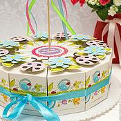 Атрибутика ручной работы. Ярмарка Мастеров - ручная работа Торт из бумаги (картона) сладкий стол, угощение в садик. Handmade.