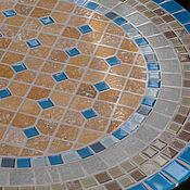 """Для дома и интерьера ручной работы. Ярмарка Мастеров - ручная работа """"Море и песок"""" кофейный стол с мозаикой. Handmade."""