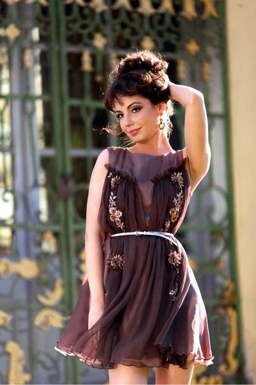 Платье шелковое дизайнерское