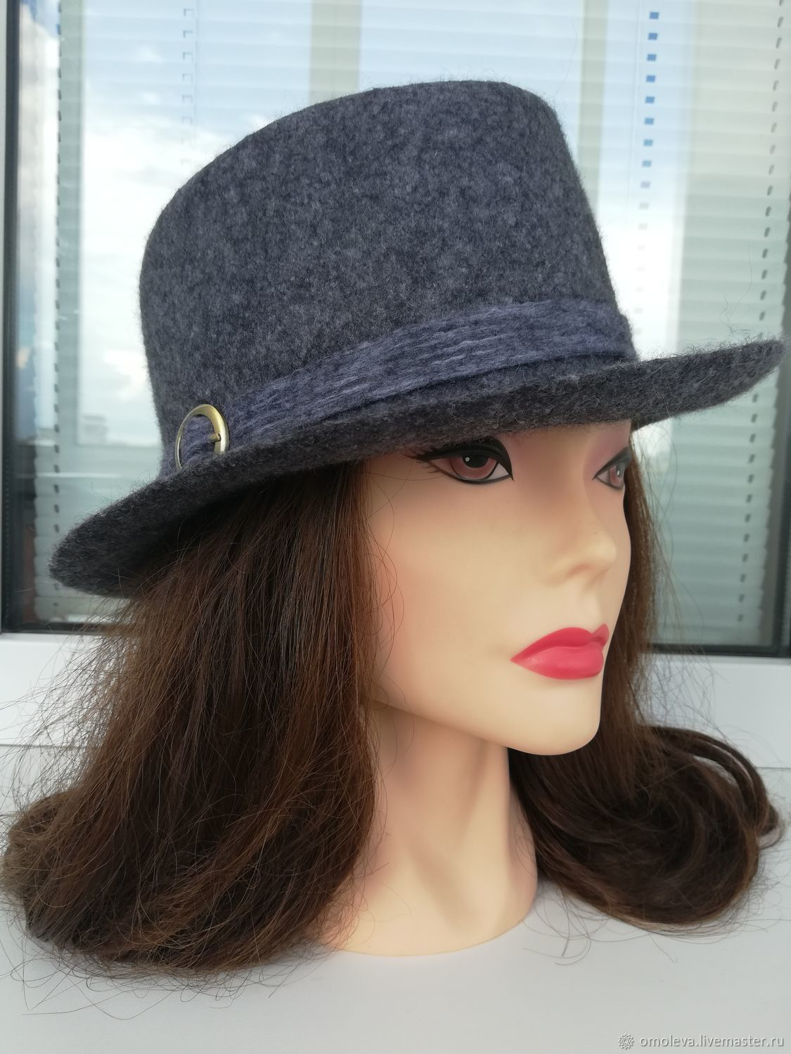 Fedora hat in anthracite color, Hats1, Minsk,  Фото №1