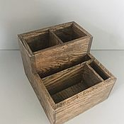 Хранение вещей ручной работы. Ярмарка Мастеров - ручная работа Органайзер, деревянная подставка для приборов, специй и салфеток. Handmade.
