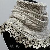 Аксессуары handmade. Livemaster - original item Snood knitted with lace. Handmade.