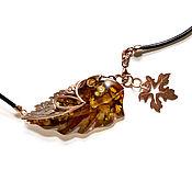 Украшения handmade. Livemaster - original item Necklace with large green amber