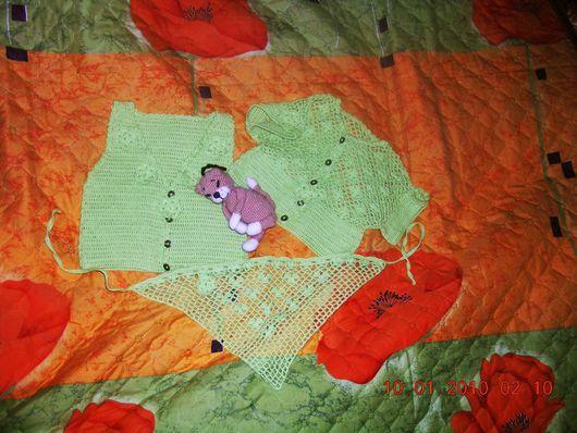 Одежда для девочек, ручной работы. Ярмарка Мастеров - ручная работа. Купить ФИСТАШКОВЫЙ КОМПЛЕКТ на девочку.. Handmade.