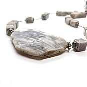 Украшения handmade. Livemaster - original item Necklace Silver. Jasper natural, architectural hardware silver plated. Handmade.