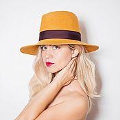 "Шляпы ручной работы. Ярмарка Мастеров - ручная работа Шляпа федора ""Star"". Handmade."