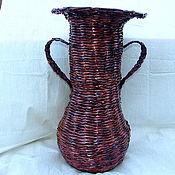 Для дома и интерьера ручной работы. Ярмарка Мастеров - ручная работа Напольная плетеная ваза из бумаги. Handmade.