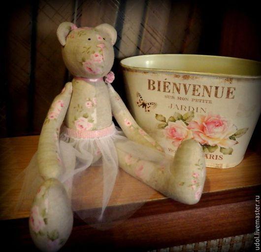 Куклы Тильды ручной работы. Ярмарка Мастеров - ручная работа. Купить Мишка тильда. Handmade. Разноцветный, пачка, подарок для женщины