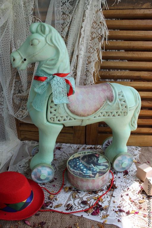 """Детская ручной работы. Ярмарка Мастеров - ручная работа. Купить Лошадка-каталка """"Иветта"""". Handmade. Лошадь игрушка, интерьер детской"""
