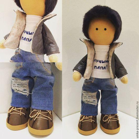 Куклы тыквоголовки ручной работы. Ярмарка Мастеров - ручная работа. Купить Текстильная кукла мальчик. Handmade. Комбинированный, кукла снежка