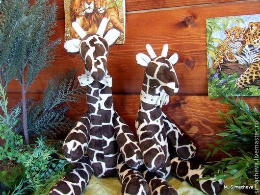 Куклы Тильды ручной работы. Ярмарка Мастеров - ручная работа. Купить Парочка жирафов Жирафле и Жирафля. Handmade. Плюшевая игрушка